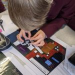 pupil working on a design
