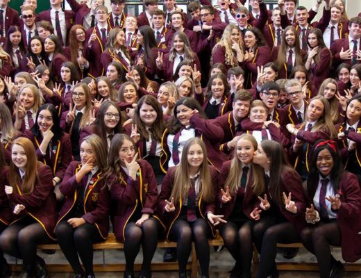 Group photo of S6 pupils from 2020